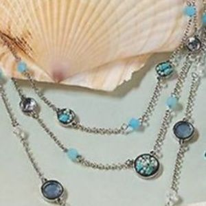 Ocean Blue Jewelry Collection Multi-Layer Necklace